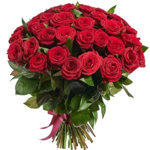 51 Роза Голландии 70 см красная