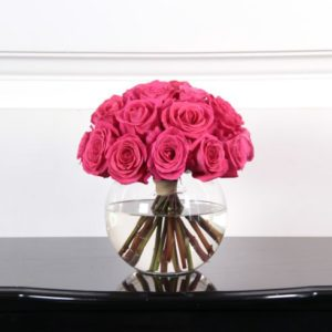 25 роз 50 см розовых