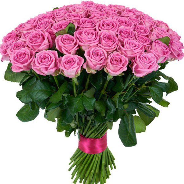 51 Роза Голландии 50 см розовая