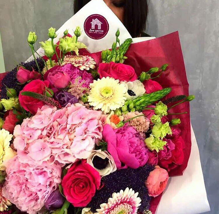 Цветы, букет на дом красноярск